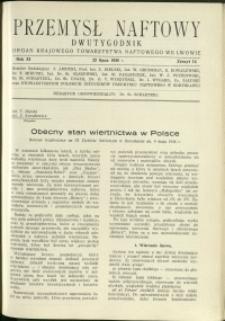 Przemysł Naftowy : 1936 : nr 14