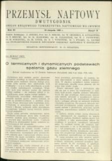 Przemysł Naftowy : 1936 : nr 15