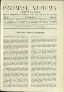 Przemysł Naftowy : 1936 : nr 16