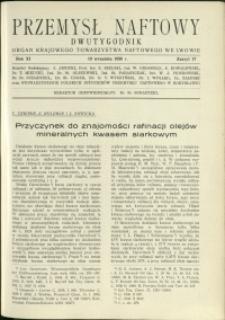 Przemysł Naftowy : 1936 : nr 17