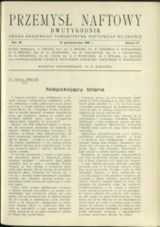 Przemysł Naftowy : 1936 : nr 19
