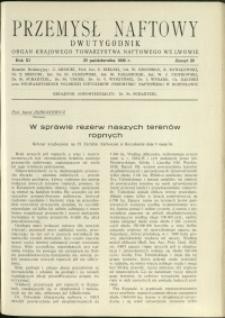 Przemysł Naftowy : 1936 : nr 20
