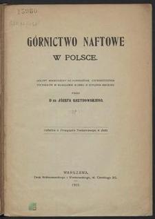 Górnictwo naftowe w Polsce : odczyt wygłoszony na Posiedzeniu Stowarzyszenia Techników w Warszawie w dniu 10 stycznia 1919 r.