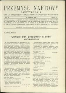 Przemysł Naftowy : 1936 : nr 21
