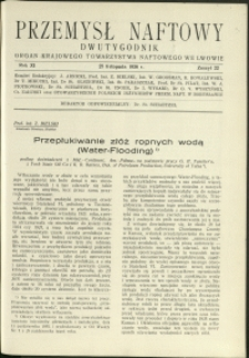 Przemysł Naftowy : 1936 : nr 22