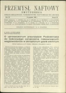 Przemysł Naftowy : 1936 : nr 23