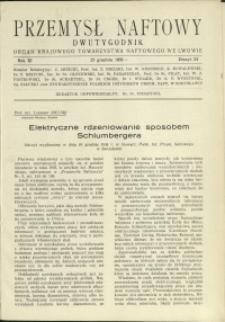 Przemysł Naftowy : 1936 : nr 24