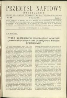 Przemysł Naftowy : 1937 : nr 2