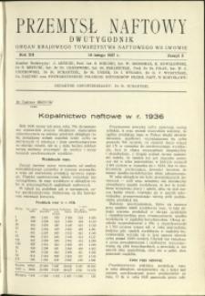 Przemysł Naftowy : 1937 : nr 3
