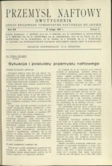 Przemysł Naftowy : 1937 : nr 4