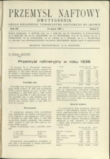 Przemysł Naftowy : 1937 : nr 5