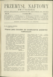 Przemysł Naftowy : 1937 : nr 7