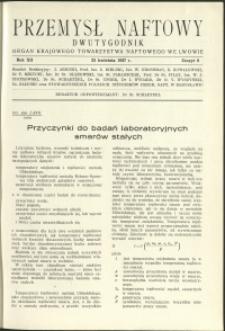 Przemysł Naftowy : 1937 : nr 8