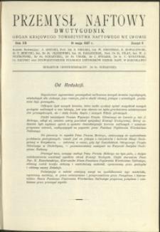 Przemysł Naftowy : 1937 : nr 9