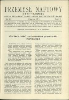 Przemysł Naftowy : 1937 : nr 11