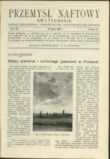 Przemysł Naftowy : 1937 : nr 14