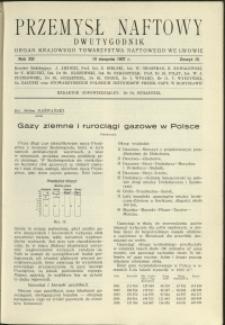 Przemysł Naftowy : 1937 : nr 15