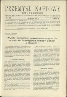 Przemysł Naftowy : 1937 : nr 16