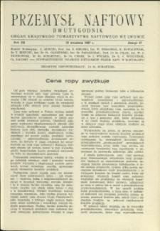 Przemysł Naftowy : 1937 : nr 17