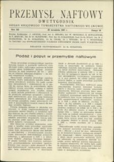 Przemysł Naftowy : 1937 : nr 18