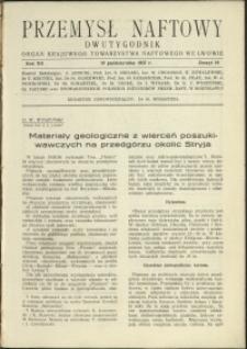 Przemysł Naftowy : 1937 : nr 19