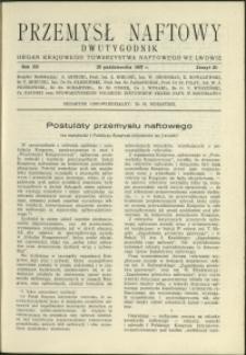 Przemysł Naftowy : 1937 : nr 20
