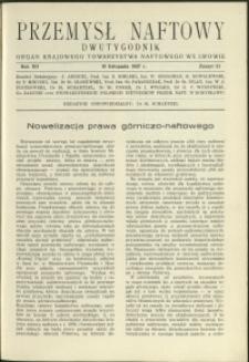 Przemysł Naftowy : 1937 : nr 21