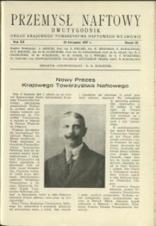 Przemysł Naftowy : 1937 : nr 22