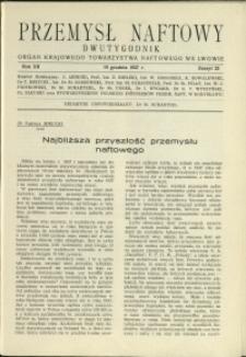 Przemysł Naftowy : 1937 : nr 23