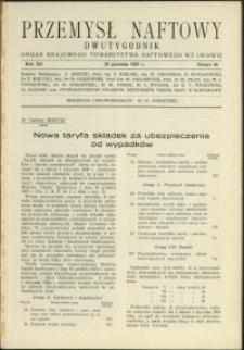Przemysł Naftowy : 1937 : nr 24