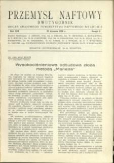 Przemysł Naftowy : 1938 : nr 2