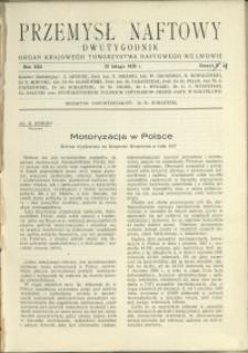 Przemysł Naftowy : 1938 : nr 4