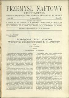 Przemysł Naftowy : 1938 : nr 5