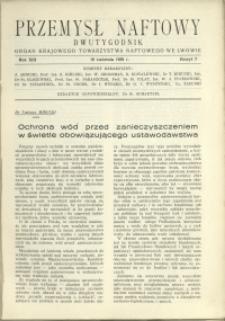 Przemysł Naftowy : 1938 : nr 7