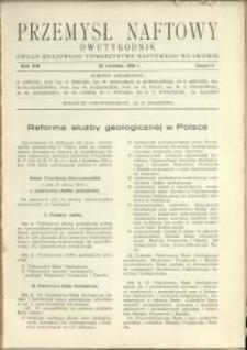Przemysł Naftowy : 1938 : nr 8
