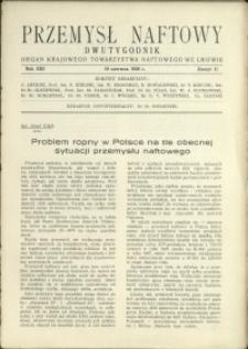 Przemysł Naftowy : 1938 : nr 11