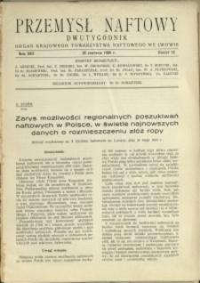Przemysł Naftowy : 1938 : nr 12