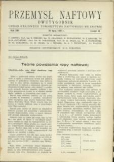 Przemysł Naftowy : 1938 : nr 14