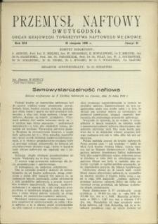 Przemysł Naftowy : 1938 : nr 15