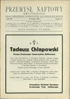 Przemysł Naftowy : 1938 : nr 16