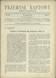 Przemysł Naftowy : 1938 : nr 17