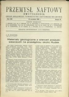 Przemysł Naftowy : 1938 : nr 18