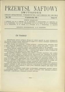Przemysł Naftowy : 1938 : nr 19