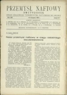 Przemysł Naftowy : 1938 : nr 21
