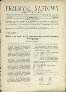 Przemysł Naftowy : 1938 : nr 22