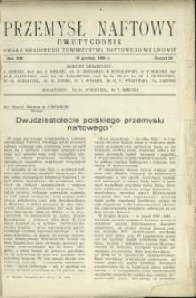 Przemysł Naftowy : 1938 : nr 23