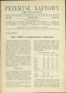 Przemysł Naftowy : 1938 : nr 24