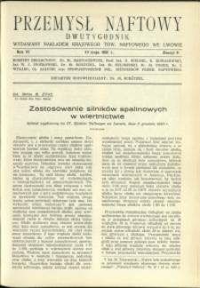 Przemysł Naftowy : 1931 : nr 9