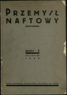 Przemysł Naftowy : 1939 : nr 1