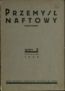 Przemysł Naftowy : 1939 : nr 2